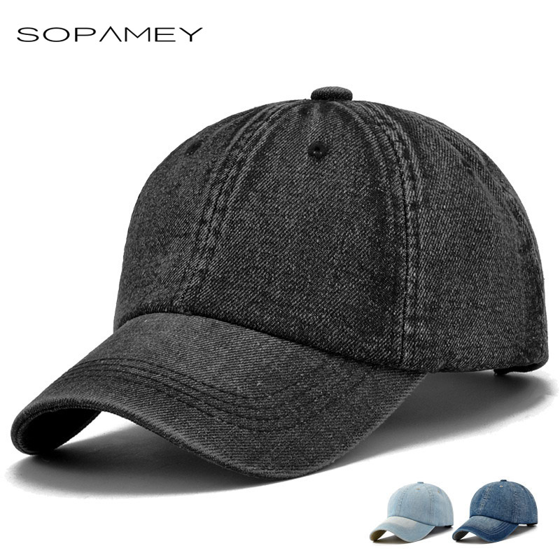 2017 Retro Jeans Baseball Cap Men Women Solid Color Snapback Hat Brand Golf Hat Adjustable Visor Bone Denim Cap Gorras Casquette
