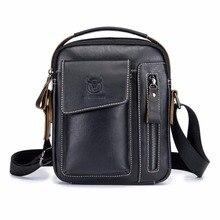 2018 Новый Винтаж Сумки из кожи для Для мужчин сумка Для мужчин Бизнес Сумка Высокое качество ручной Сумки iPhone 7