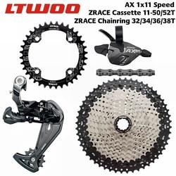 LTWOO AX11 11 Speed Trigger Shifter + Rear Derailleur 11s + ZRACE Cassette 52T / Chainrings + SUMC S11 Chain, PCR BEYOND M7000