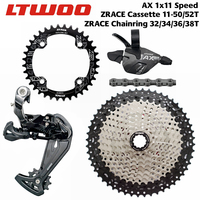 LTWOO AX11 11 Speed Trigger Shifter + Rear Derailleur 11s + ZRACE Cassette 52T / Chainrings + SUMC S11 Chain, PCR BEYOND M7000