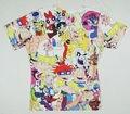 Harajuku новая коллекция весна 2015 женщины / мужчины одежда цветочный мультфильм приключения время 90-colnago Pokemon 3D печать Tshirt