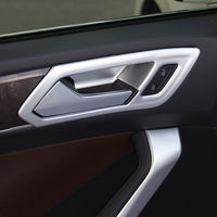 For Touran car styling 2016 2019 ABS Matte Chrome Car inner door Bowl protector frame Cover Trim
