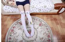 Japanese Anime Fake Thigh High Tights Sailor Moon Cosplay 20th Anniversary Luna Cat Pattern Pantyhose(China)