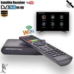 IBRAVEBOX V8 odbiornik satelitarny HD wsparcie CCAM DVB S2 tuner tv HD 1080 P cyfrowy satelitarny odbiornik TV receptora