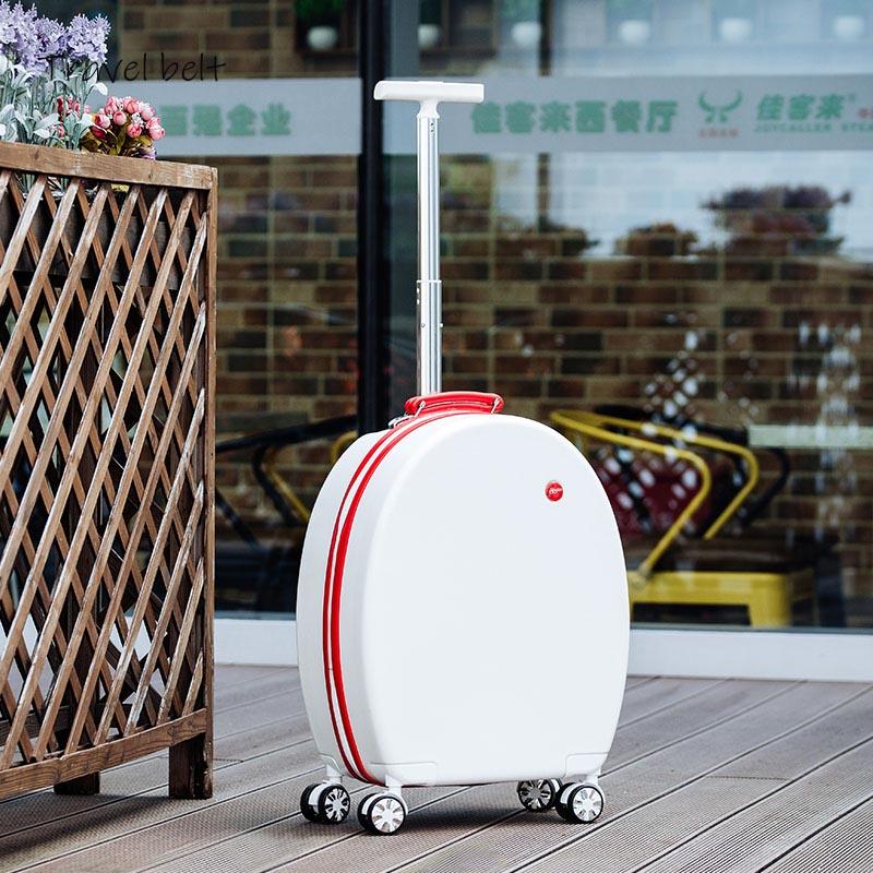Może siedzieć kobiety koreański Spinner Rolling przechowalnia podróż 20 cal o dużej pojemności modne torby podróżne hasło kabina walizka koła w Walizka na kółkach od Bagaże i torby na  Grupa 3