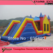 PVC9x4m tarpaulin inflatable bouncers with slide for kids and baby