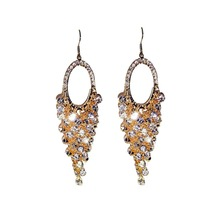 Luxurious Exaggerated Pure Handmade Crystal Beads Long Tassel Earrings Fashion Women Jewelry Big Statement