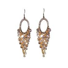 Luxurious Exaggerated Pure Handmade Crystal Beads Long Tassel Earrings Fashion Women Jewelry Big Long Statement Earrings недорого