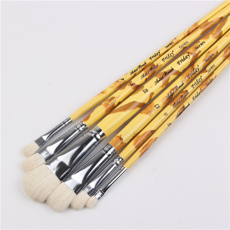 6pcs/Set Factory direct supply of high-quality wool brush 6 professional cqnnn gouache painting pen acrylic wholesale the factory direct large painting signature series of neutral pen 1mm 12pcs set