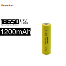 KingWei New 100 X 18650 Battery 1200mah 3.7 v Li ion Rechargeable 18650 Lithium-ion Battery