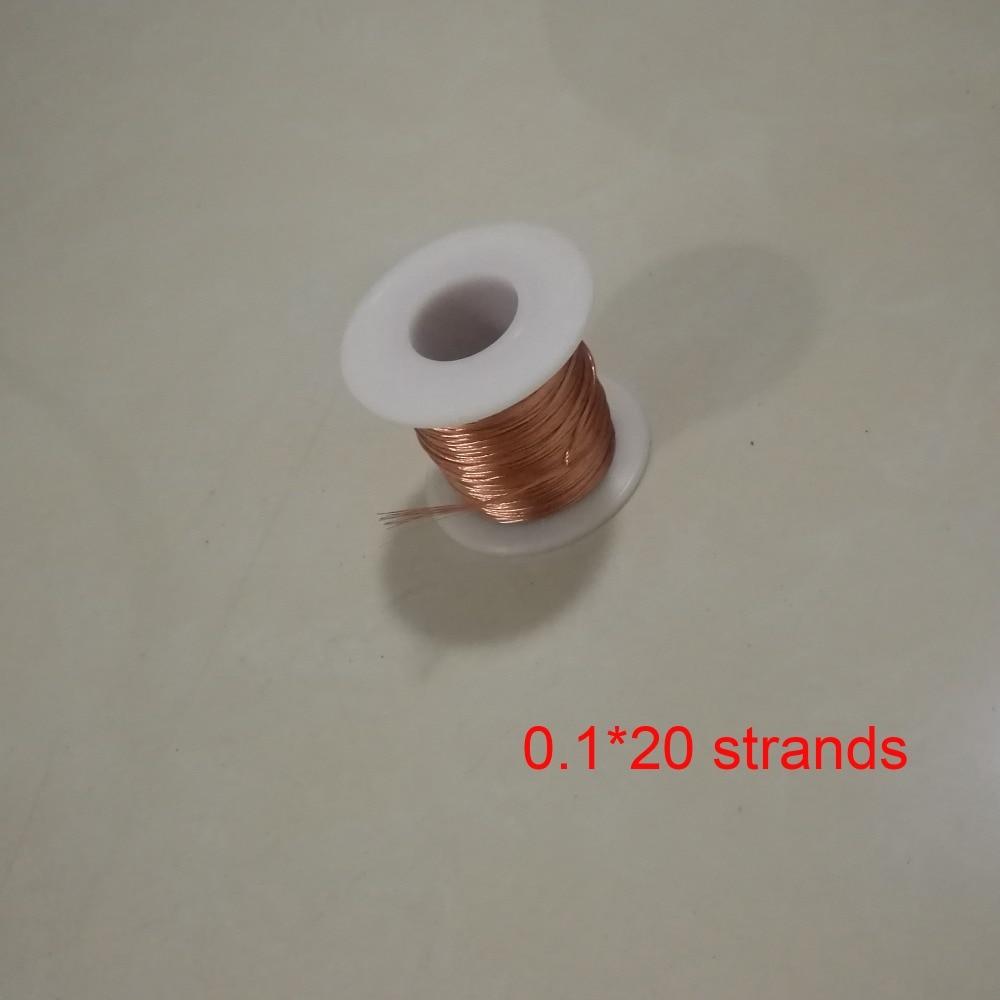 0.1*20 Strands Polyurethane Enameled Copper Wire Multi-strand Litz wire