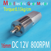 16MM 800RPM DC 12VGear Motor  Mini Electric Metal  Powerful High Torque For RC Car Robot Model DIY Toys House Appliance Parts