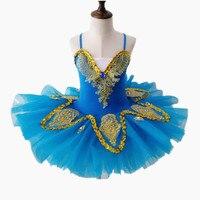 Ballerina Dress Swan Lake Costumes Children Sequins Tutu Ballet Dress Kids Gymnastics Leotard Performance Dancewear For