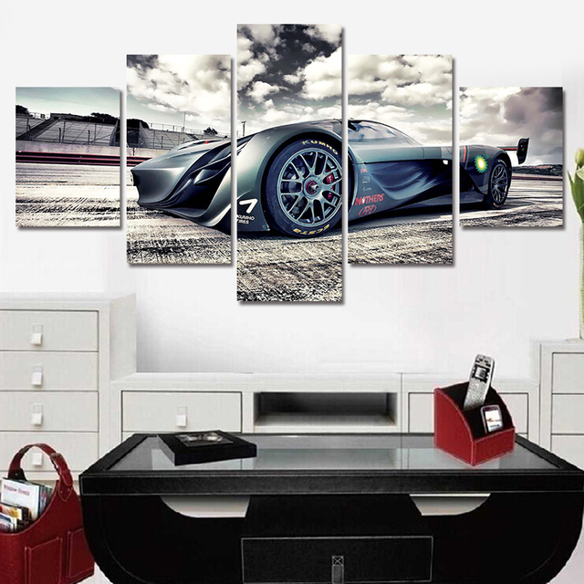 AtFipan 5 Piece picture Hot Sell Abstract Cool Cars Modern Home ...
