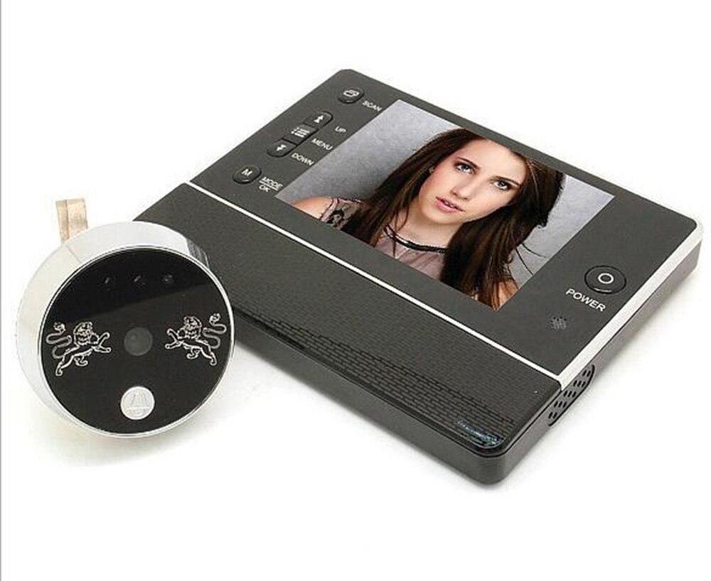 """3.5 """"cal LCD cyfrowy dzwonek wizjer Interfone kamera DVR Night Vision 120 stopni funkcja nie przeszkadzać kota oko"""