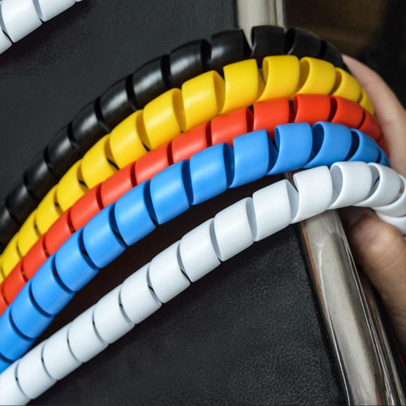 Matedepreso Cover Color Blanco Organizador de Cables de 8 mm con tuber/ía en Espiral Tama/ño Libre Amarillo