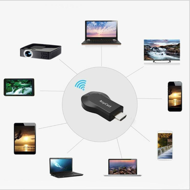 128M Anycast m2 Miracast Any Cast Wireless 1080P DLNA AirPlay Mirror HDMI TV Stick Wifi Display Dongle Receiver for IOS Android(China)