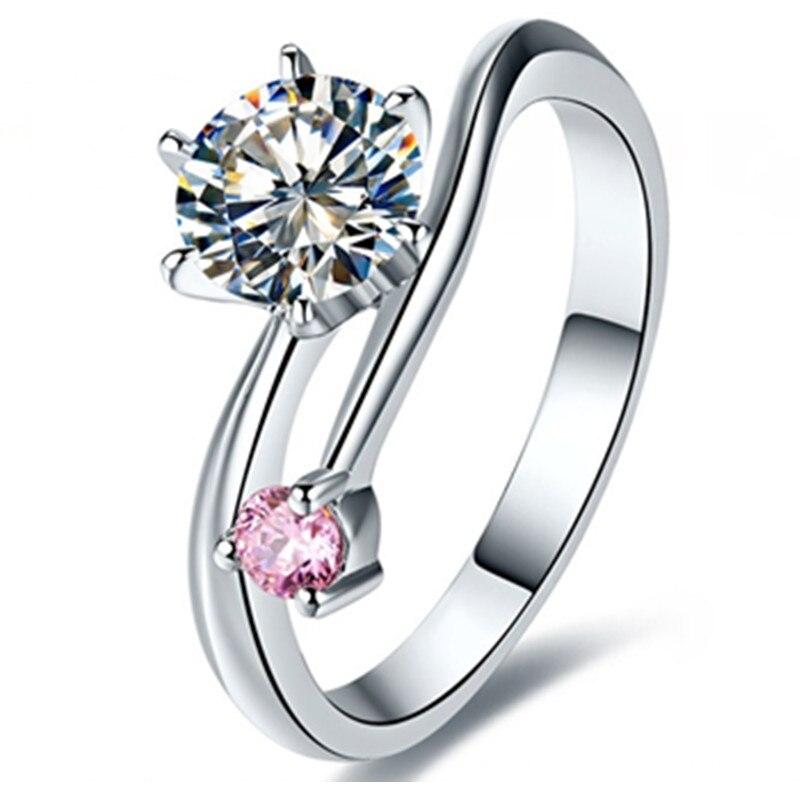 Telesthesiaรัก1.01Ctล้างและสีชมพูสังเคราะห์เพชรแหวนหมั้นสำหรับรักS925เงินสเตอร์ลิงแหวนสีขาวสีทอง-ใน แหวนหมั้น จาก อัญมณีและเครื่องประดับ บน   2