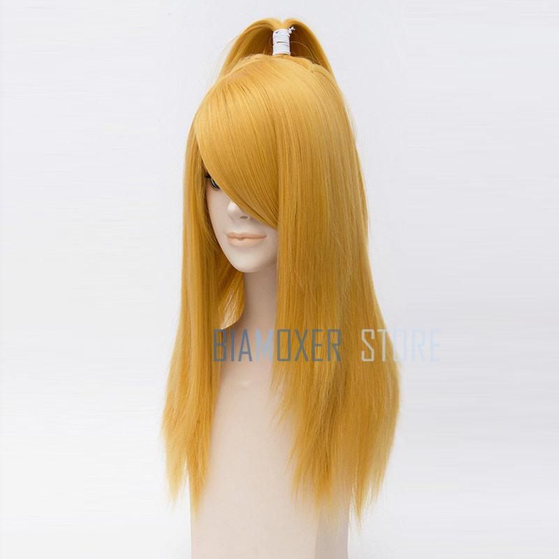 Image 3 - Naruto Akactuki Cosplay hair wig halloween Deidara cosplay wig for men Long Gold wigs hairpiece costume-in Anime Costumes from Novelty & Special Use
