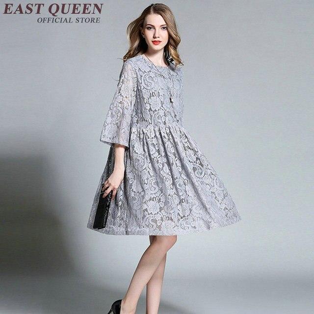 c5fdd63b0 Tamanho grande vestidos de renda túnica mulheres tamanho grande estilo  verão roupas femininas tamanho grande vestido