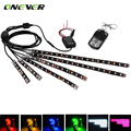 6pcs  Motorcycle LED Neon Strip LampGlow Light RGB 72 LEDs 5050 SMD Voice Control Static Colors Flash Fade Strobe ON OFF Model