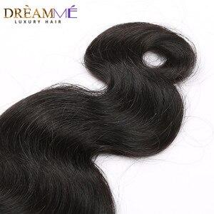 Image 5 - Extensión brasileña del pelo humano de la onda del cuerpo 100% extensiones de pelo ondulado Natural de la Reina del sueño del Color negro productos del pelo