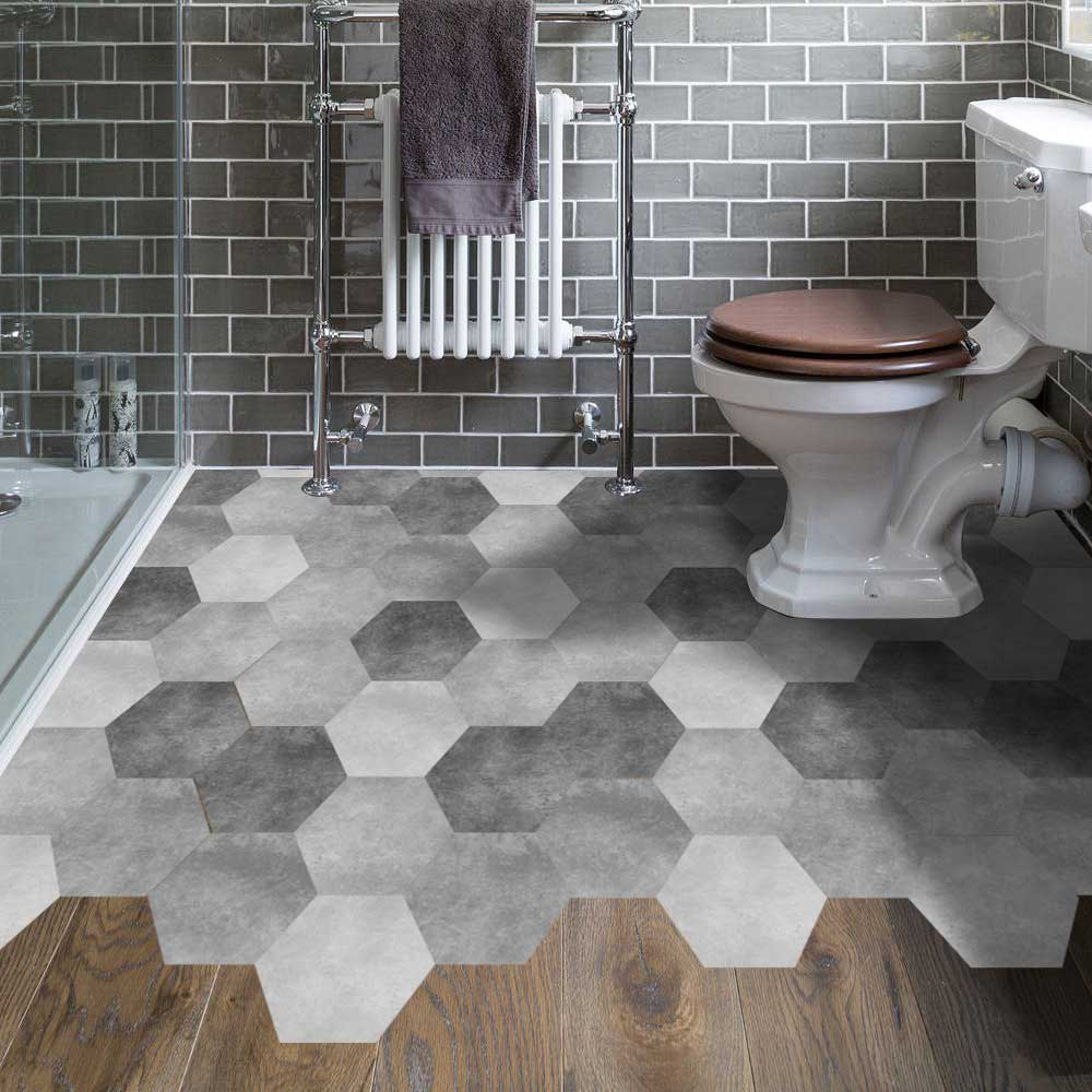10 Pcs Pvc Wall Hexagon Tile Sticker