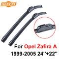 Qeepei escobilla para opel zafira 1999-2005 24 ''+ 22'' de alta calidad iso9000 de caucho natural limpia parabrisas delantero cpu101-3