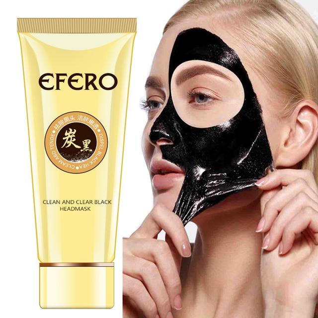 efero Black Mask Blackhead Removal Nose Strips Black Head Face Mask Deep Cleansing Peel Off Mask Pores Shrinking Acne Treatment