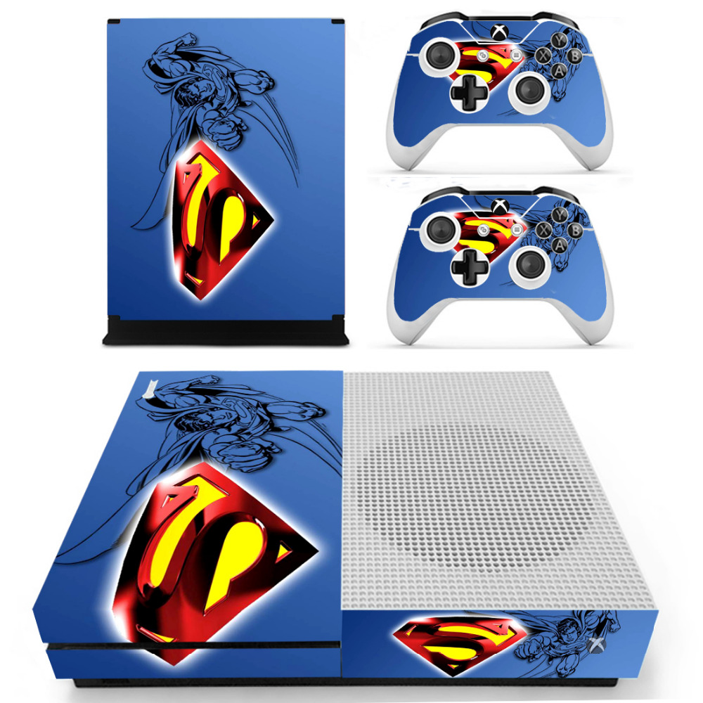 DC Superman Skin Sticker Decal For Xbox One S Console and Controllers for Xbox One Slim  ...