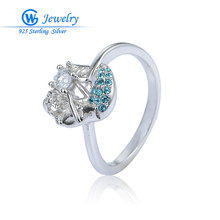 GW Superb Jewellery 2016 Style Ladies's Rings Fish Magnificence with Model Crystal Engagement Wedding ceremony Rings Ladies Equipment RIPY077H20