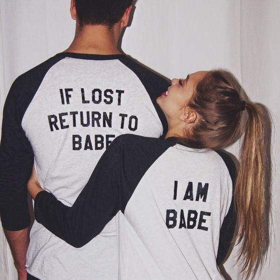 Par T camisa ropa 2018 nuevo de San Valentín timbre T camisa los hombres de las mujeres de manga larga cuello en O amante Casual camisetas Femin