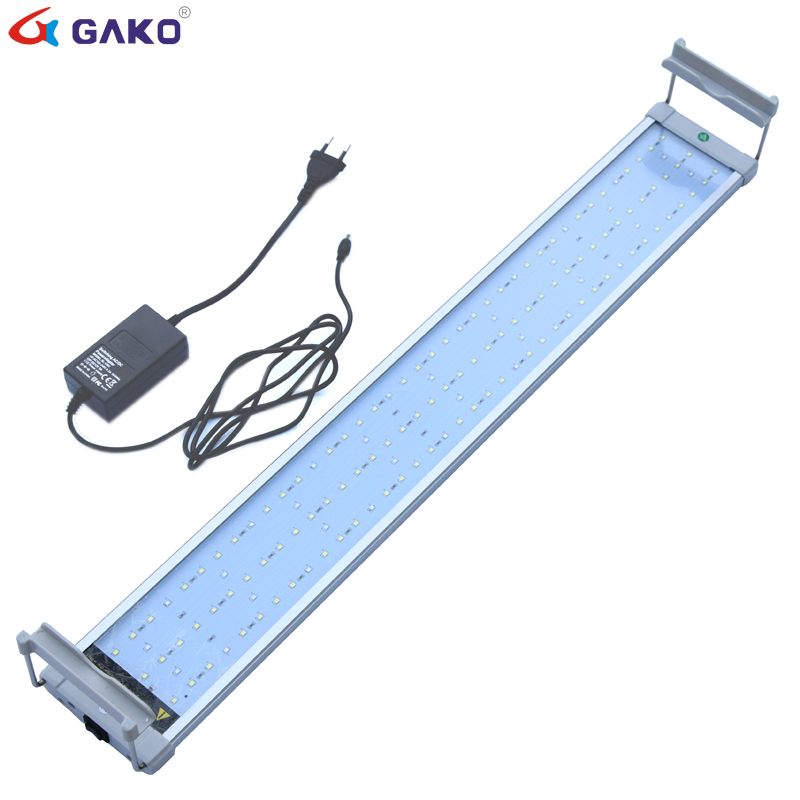 75 95cm 27W colorful Aquarium LED Lighting Fish Tank Light Lamp with Extendable Bracket 135 LED