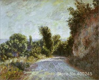 Canvas Art online Claude Monet Paintings Road to Giverny High quality Hand painted