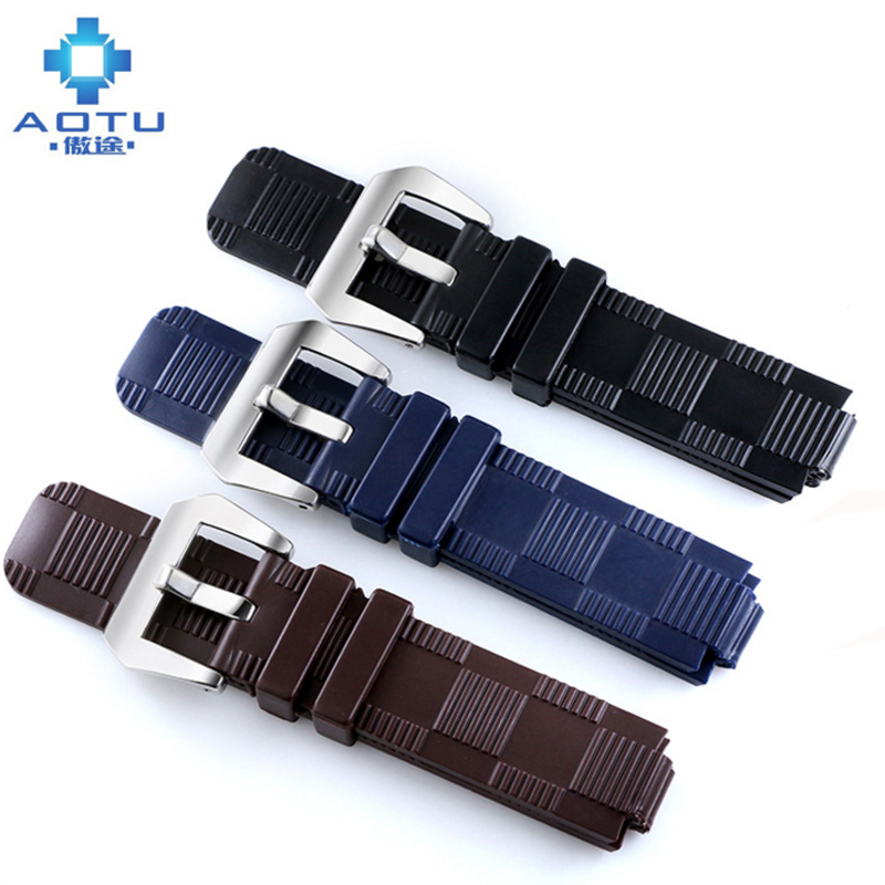 21mm Silicone Watch Straps For LV Men Sport Watchbands For Louis Vuitton Brand Quality Male Watch Band Straps For Men Watches