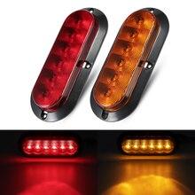 2pcs 6 LED 12v Tail Light For Car Truck Trailer Caravan Waterproof Lights Side Marker Lamp Warning Rear Boat light