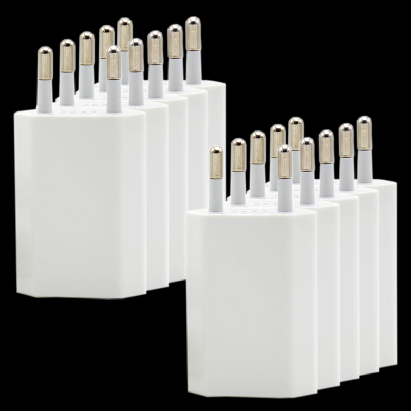Image 3 - 10PCS/Lot EU Plug White Color Wall USB Charger For iPhone 8 Pin Charging Cable + Charger Adapter For Apple iPhone 6 7 Plus 5S 5-in Mobile Phone Chargers from Cellphones & Telecommunications