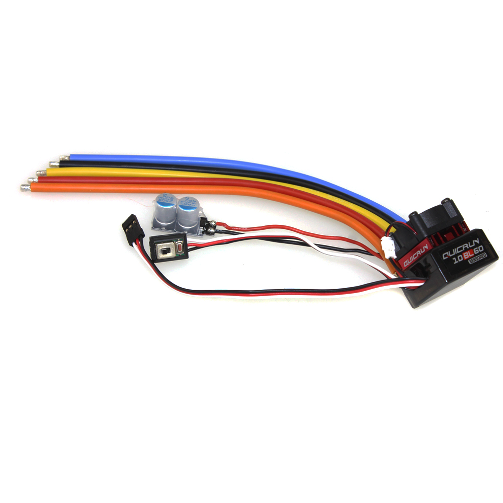Hobbywing QUICRUN 10BL60 Sensored 60A 2-3S Lipo BEC Speed Controller Brushless ESC for 1/10 1/12 RC Car F17874 hobbywing quicrun 1 10 brushless sensored 60a esc 10 5t motor combo for car