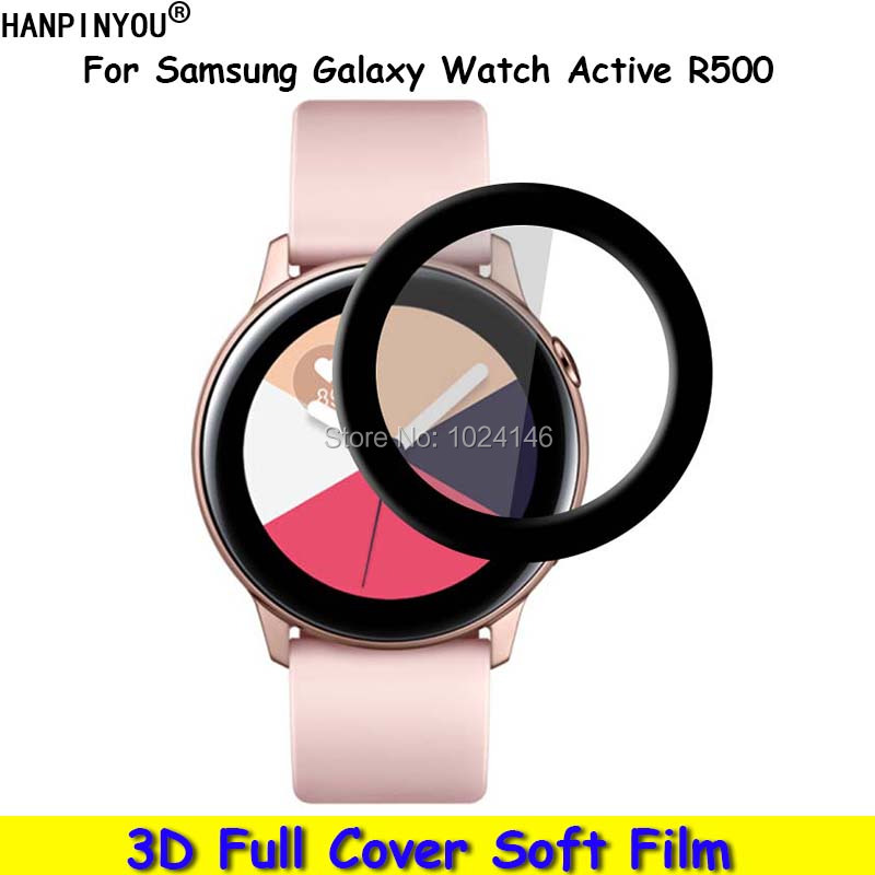 For Samsung Galaxy Watch Active R500 3D Curved Cambered Full Cover Soft PET Film Screen Protector (Not Tempered Glass)