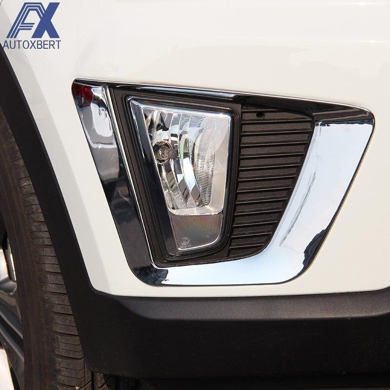 For Hyundai Kona 2017 2019 Chrome Front Fog Light Lamp: AX Chrome Front Rear Reflector Fog Light Lamp Cover For