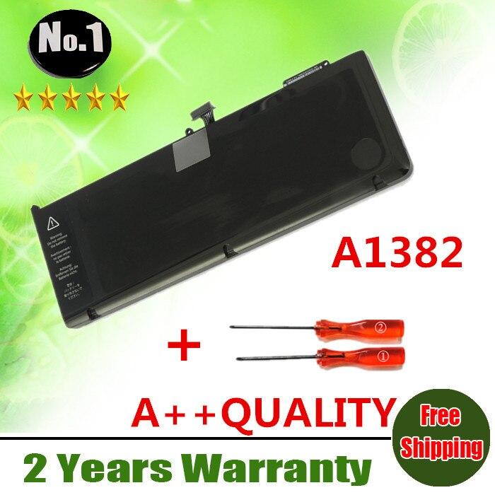 """Prix pour Gros Nouvelle batterie d'ordinateur portable POUR APPLE MacBook Pro 15 """"A1286 (2011 Version) MC721 MC723 Série Remplacer A1382"""
