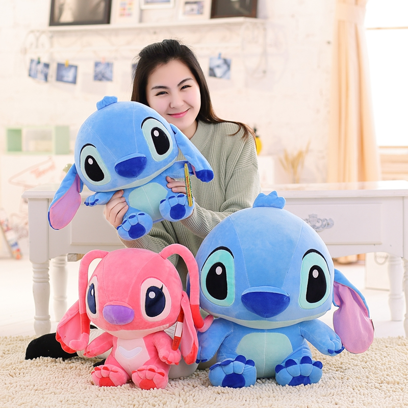 50cm New Kawai Plush Toys Stuffed Animal Doll Kids Appease Toy Anime Lilo And Stich Christmas Birthday Gift For Children Girls