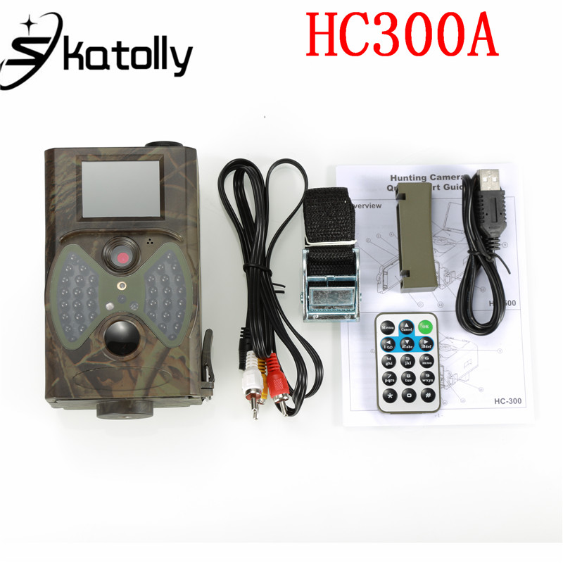 Skatolly HC300 HC-300A Scouting Hunting Trail Camera 12MP HD Cam 940NM Infrared Wildlife Night Vision Trail Hunting Camera 12mp trail camera gsm mms gprs sms scouting infrared wildlife hunting camera hd digital infrared hunting camera