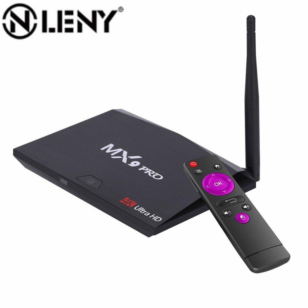 MX9 Pro Android 7.1 Smart TV Box RK3328 Quad-Core 2G/16G 2.4G WiFi Bluetooth 4.0 H.265 VP9 HDR 4K HD Set top box Media Player телеприставка ubox r89 tv box 89 android rk3288 2g 16g t764 gpu bluetooth 4 0 xbmc 2 4 g 5 g wifi h 265 r89 android tv box
