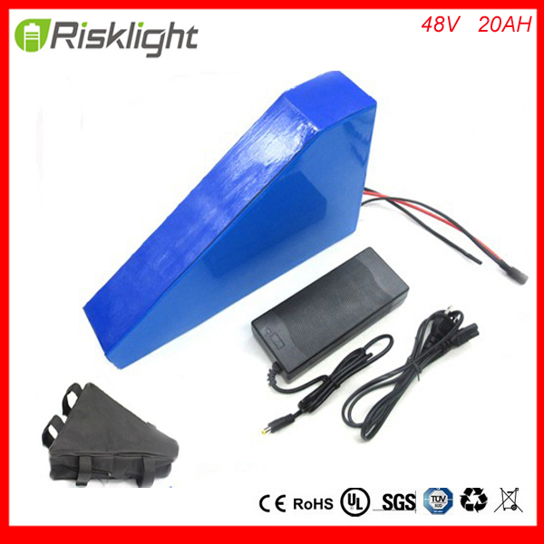 Free battery bag 48V 20AH Lithium Battery Electric Bicycle Scooter 48V Battery Lithium-ion ebike battery pack with charger BMS 48v 15ah battery pack 700w 48 v 15ah ebike e scooter lithium ion battery 15a bms 2a charger free customs fee