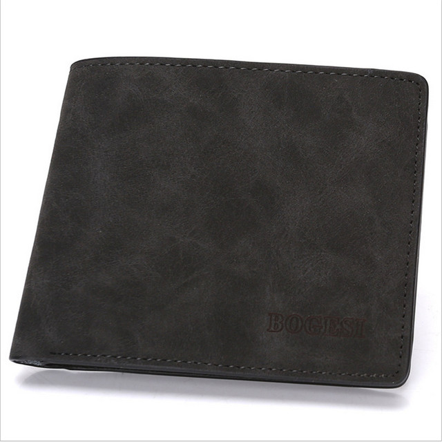 High Quality short wallet men vintage style brand men wallets leather purse male credit card holder money bag D1069-5