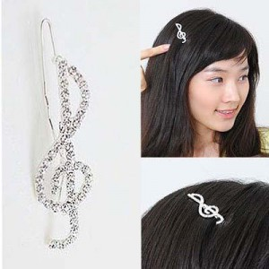 notes hairpin Han edition side clamp, free home delivery шарф notes 10852