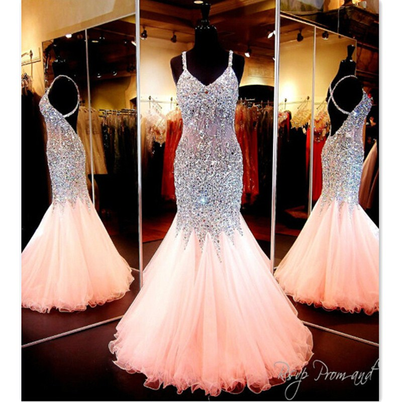 Online Buy Wholesale gorgeous coral mermaid prom dress from China ...