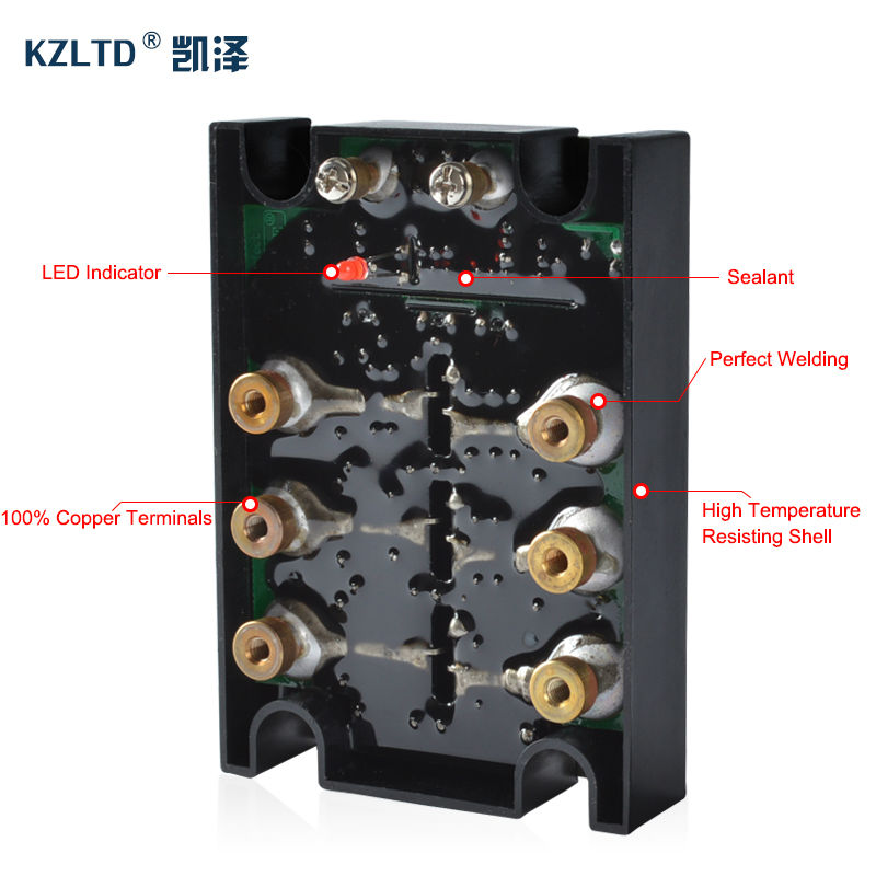 KZLTD 3 Phase Solid State Relay SSR 120A DC AC Solid State Relay 3