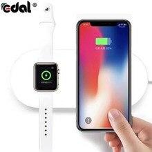 Эдал Быстрый qc3.0 Беспроводной Зарядное устройство быструю зарядку одновременно 5 В/2A Зарядные устройства для Apple Watch для IPhone X Samsung смартфоны
